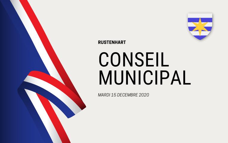 Conseil Municipal de Rustenhart du mardi 15 décembre 2020